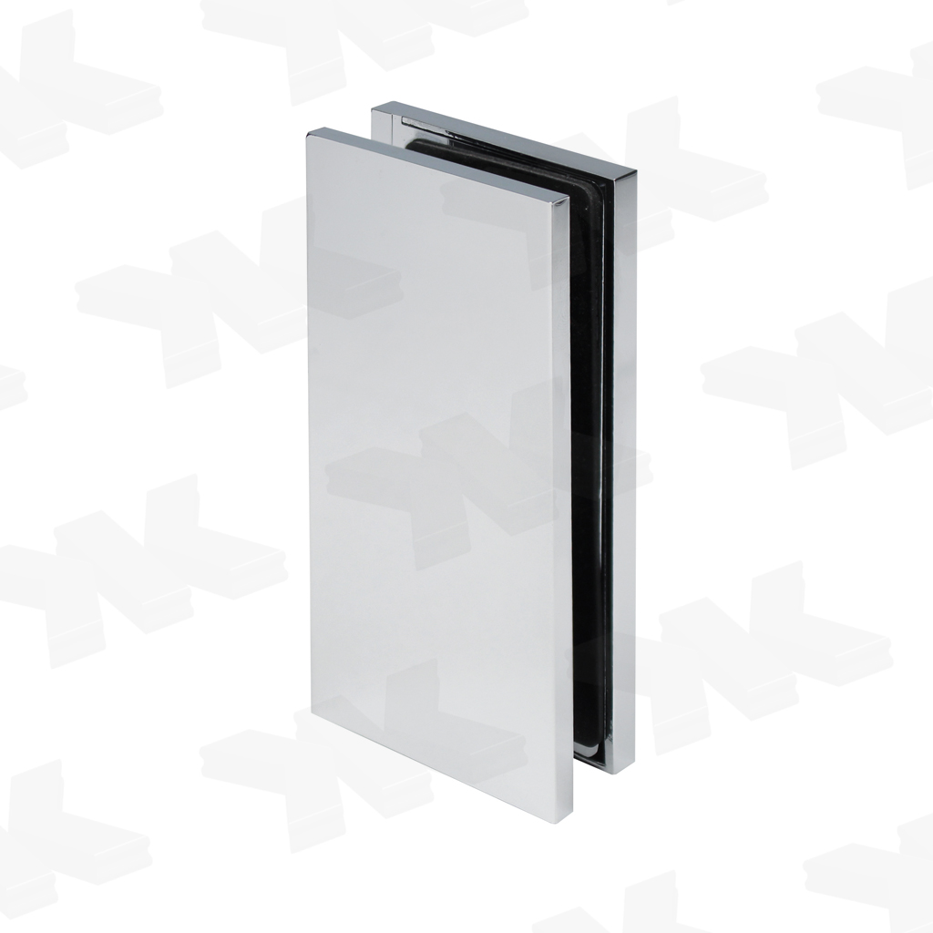 Connector glass-wall 90°, with cover