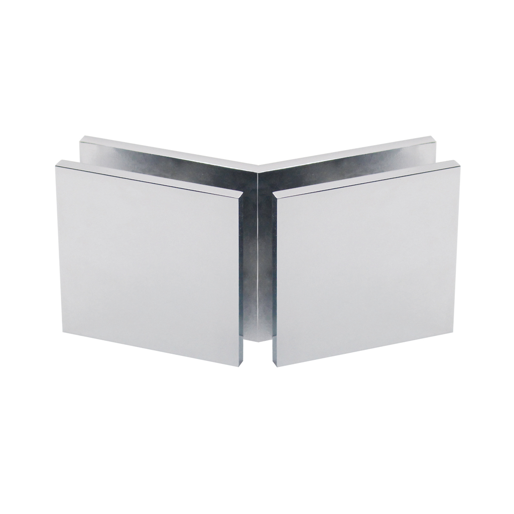 Corner connector glass-glass 135°