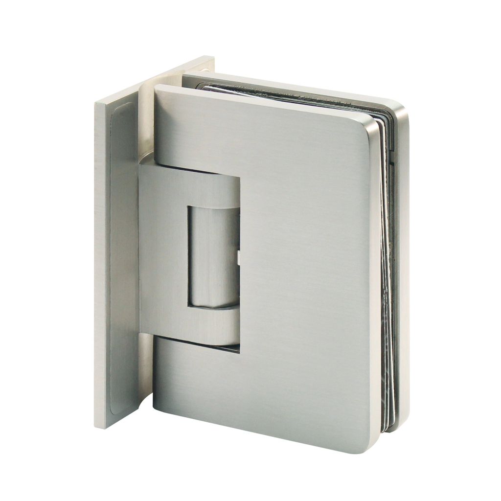 Hydraulic hinge for swing door, glass-wall with cover