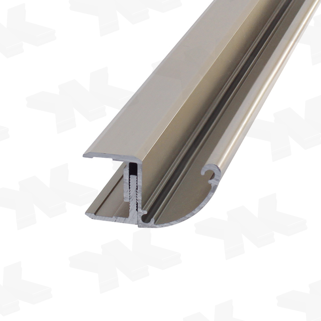 Rain gutter for canopies, glass 16,76-25,52 mm