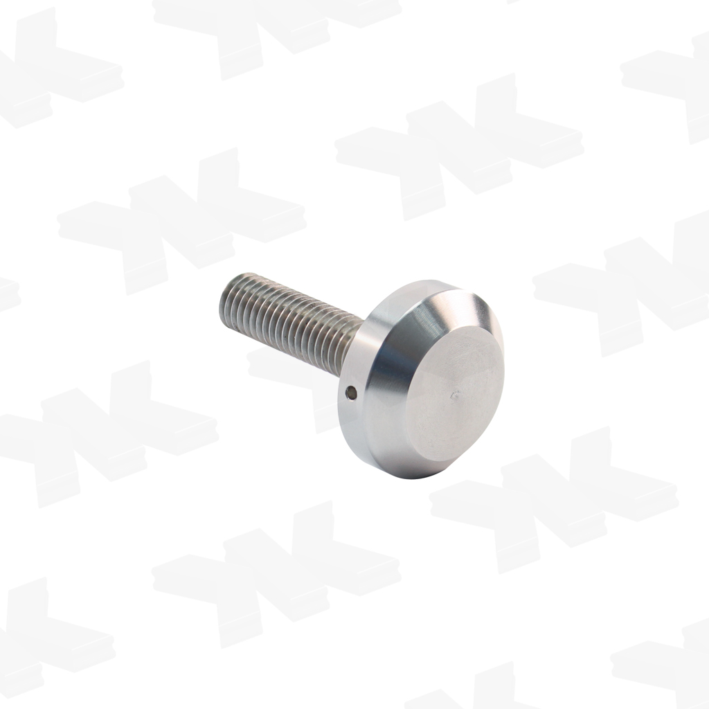 Fastening screw for single-sided pull handles
