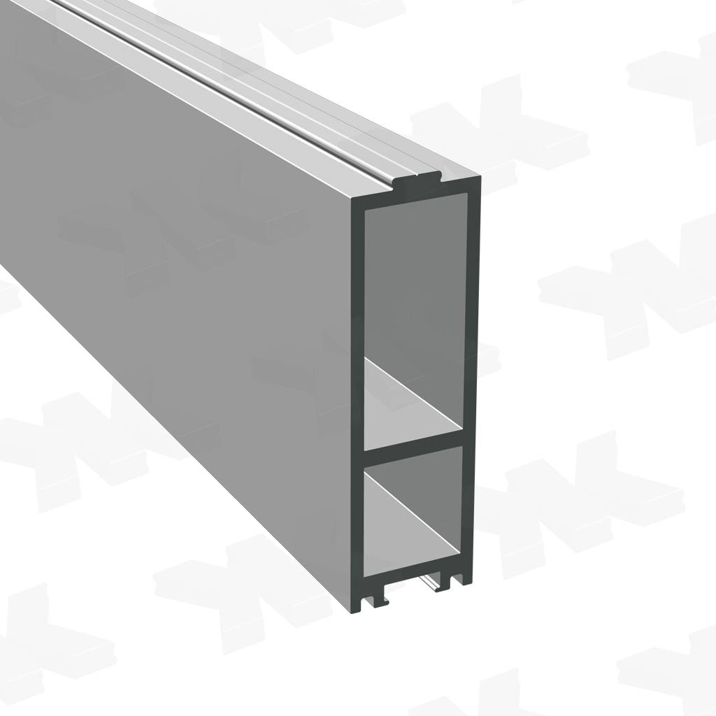 Additional dry glazing profile 24x75x24 mm, anodized