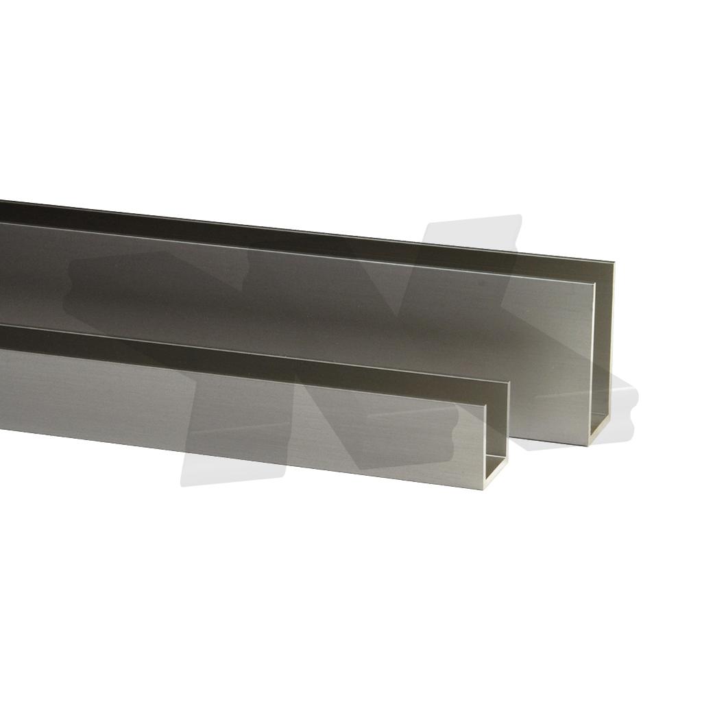 Aluminium U-Profile Edge Protection W profile C-Profile U Rail 20x20x25mm-3mm