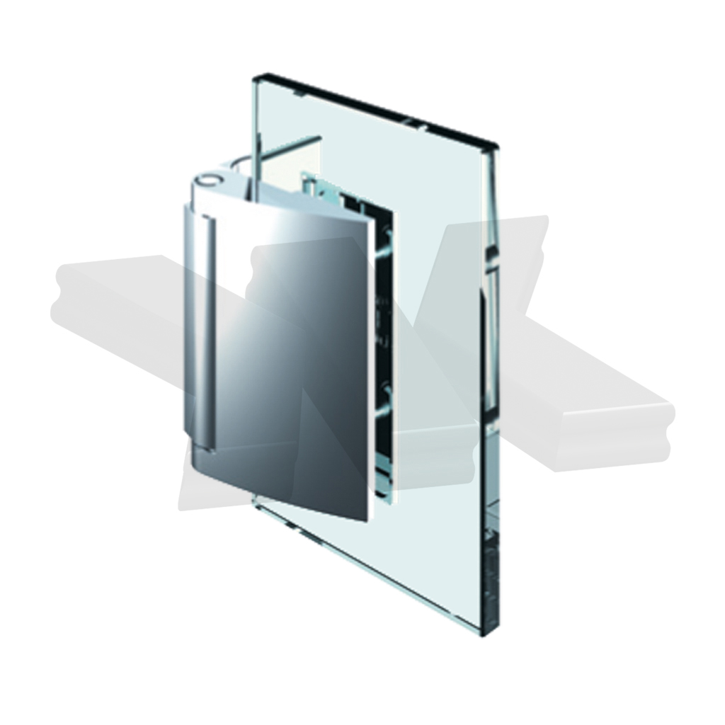 Shower door hinge Papillon, glass-wall 90°, opening outward