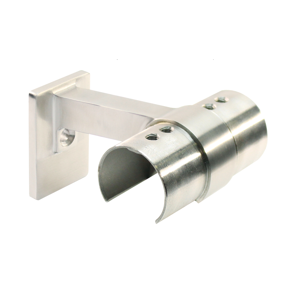 Handrail bracket for frame tube Ø 42,4 mm, wall connection