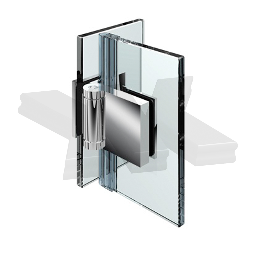 Shower door hinge Flinter, glass-glass 90°, opening outward