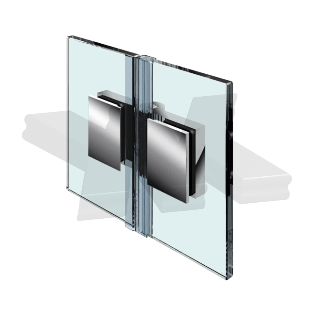 Shower door hinge Flinter, glass-glass 180°, opening inward