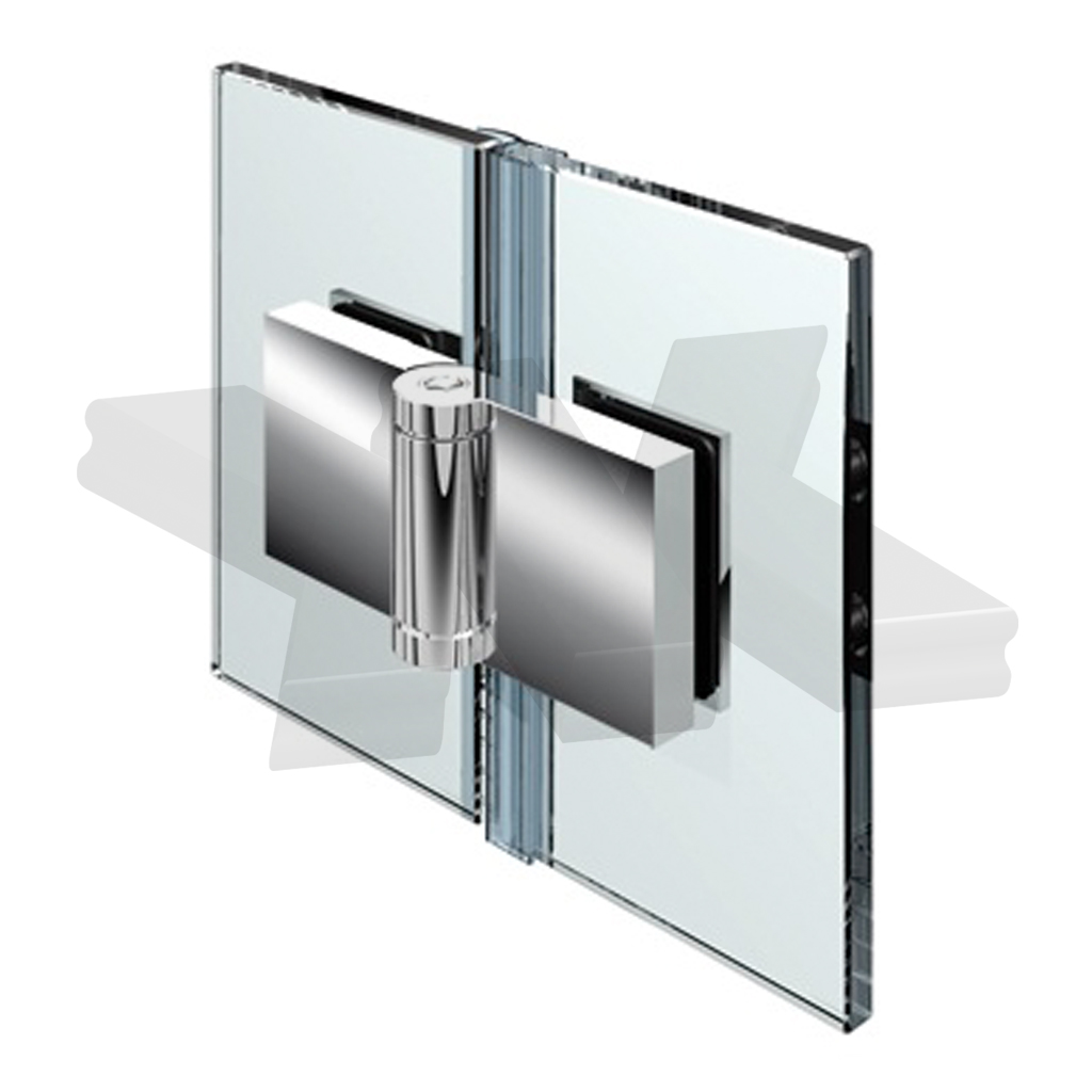 Shower door hinge Flinter, glass-glass 180°, opening outward