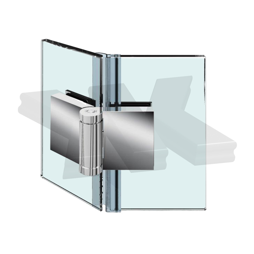 Shower door hinge Flinter, glass-glass 135°, opening outward