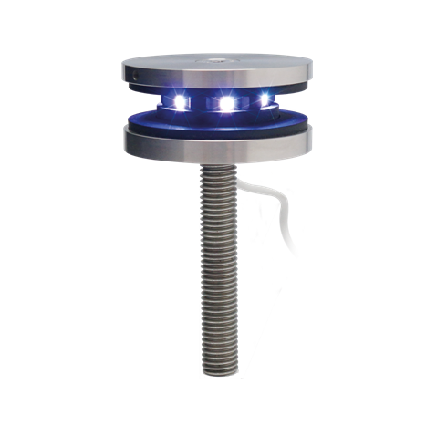 LED point fitting, rigid, Ø 68 mm, 12,76-21,52 mm glass